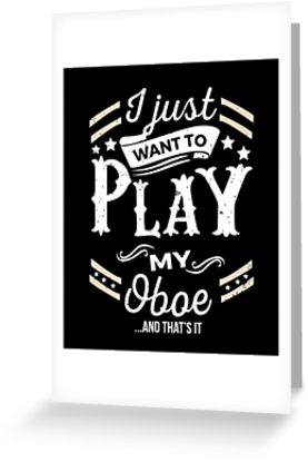 Oboe Play Greeting Card