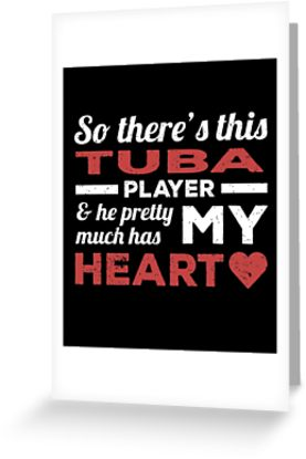 Tuba Player Heart Greeting Card