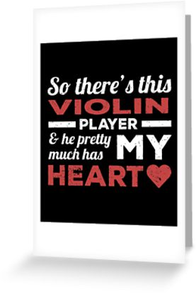 Violin Player Heart Greeting Card