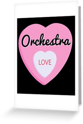 Orchestra Love Greeting Card