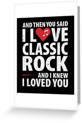 Love Classic Rock Music Greeting Card