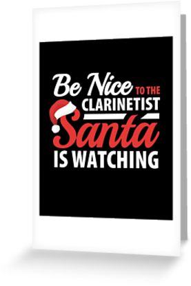 Clarinetist Santa Greeting Card