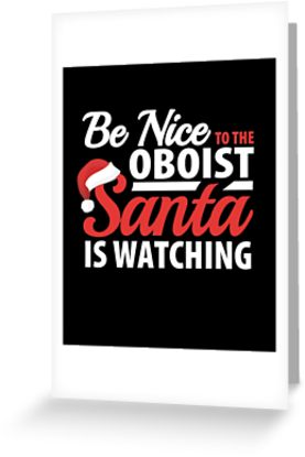Oboist Santa Greeting Card