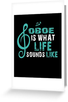Oboe Life Greeting Card
