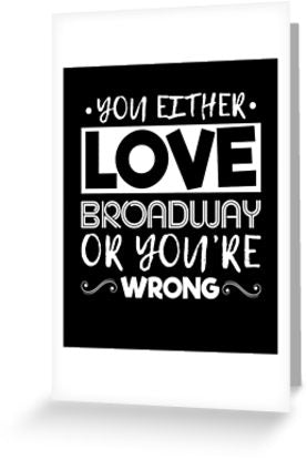 Love Broadway Greeting Card