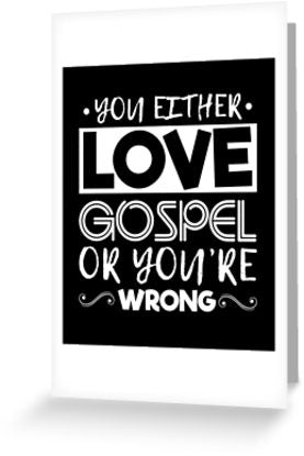 Love Gospel Music Greeting Card