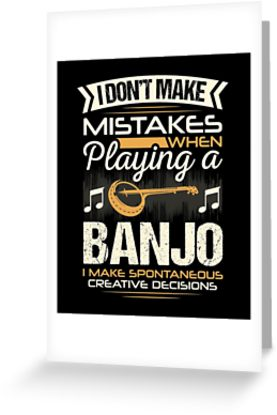 Banjo Mistakes Greeting Card
