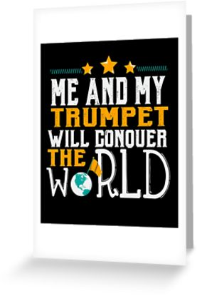 Trumpet World Greeting Card