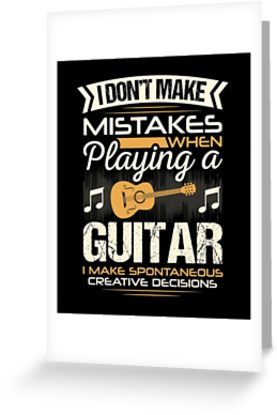 Guitar Mistakes Greeting Card