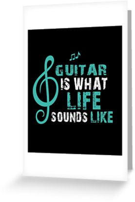 Guitar Life Greeting Card