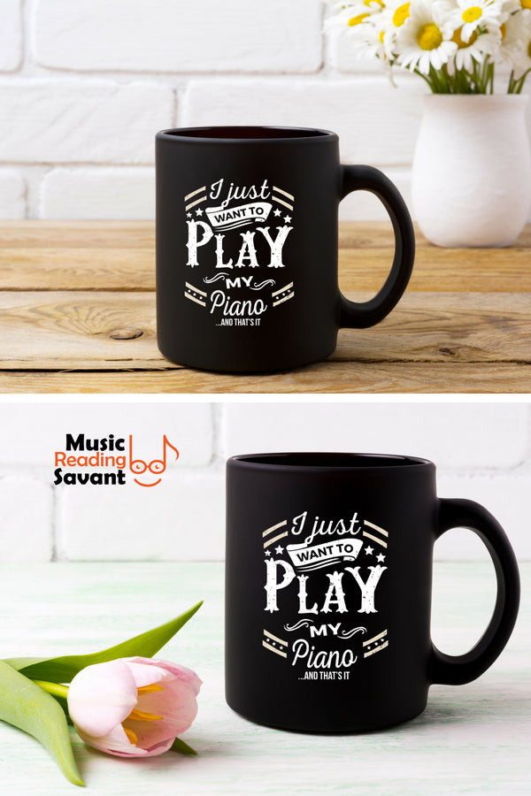 Piano Play Coffee Mug Black