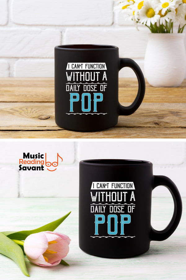 Pop Music Coffee Mug Black