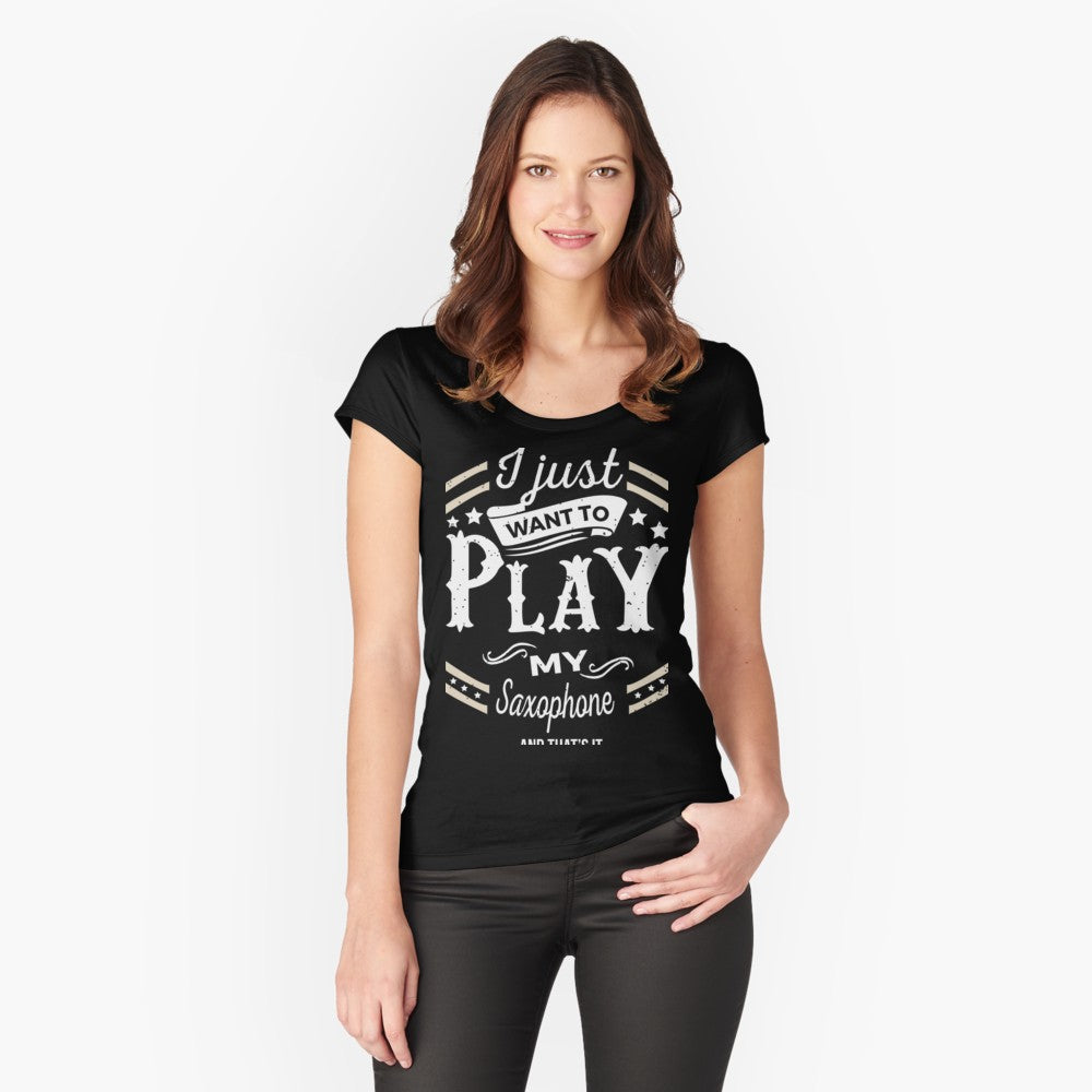 Saxophone Play Women's Fitted Scoop T-Shirt