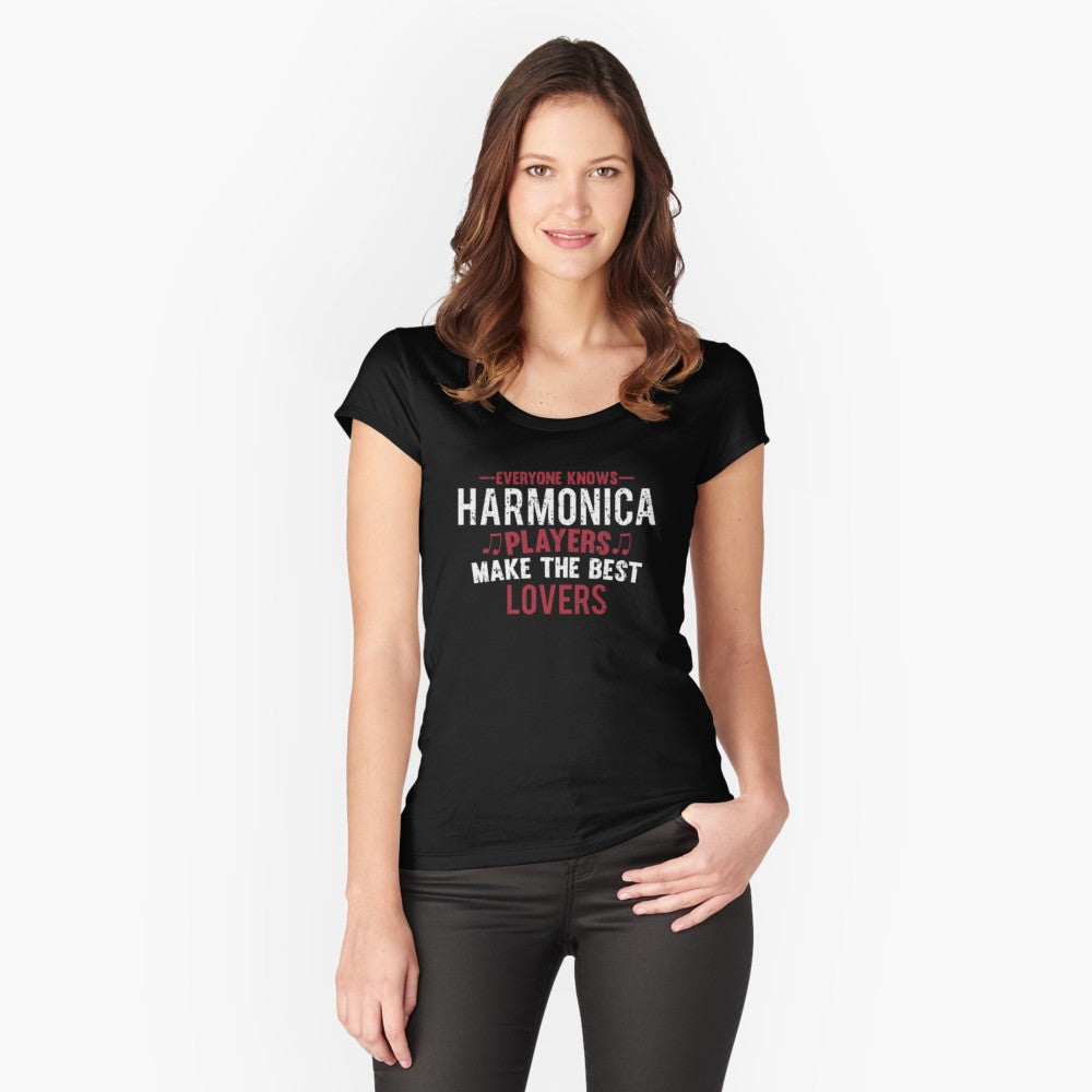 Harmonica Players LoversWomen's Fitted Scoop T-Shirt