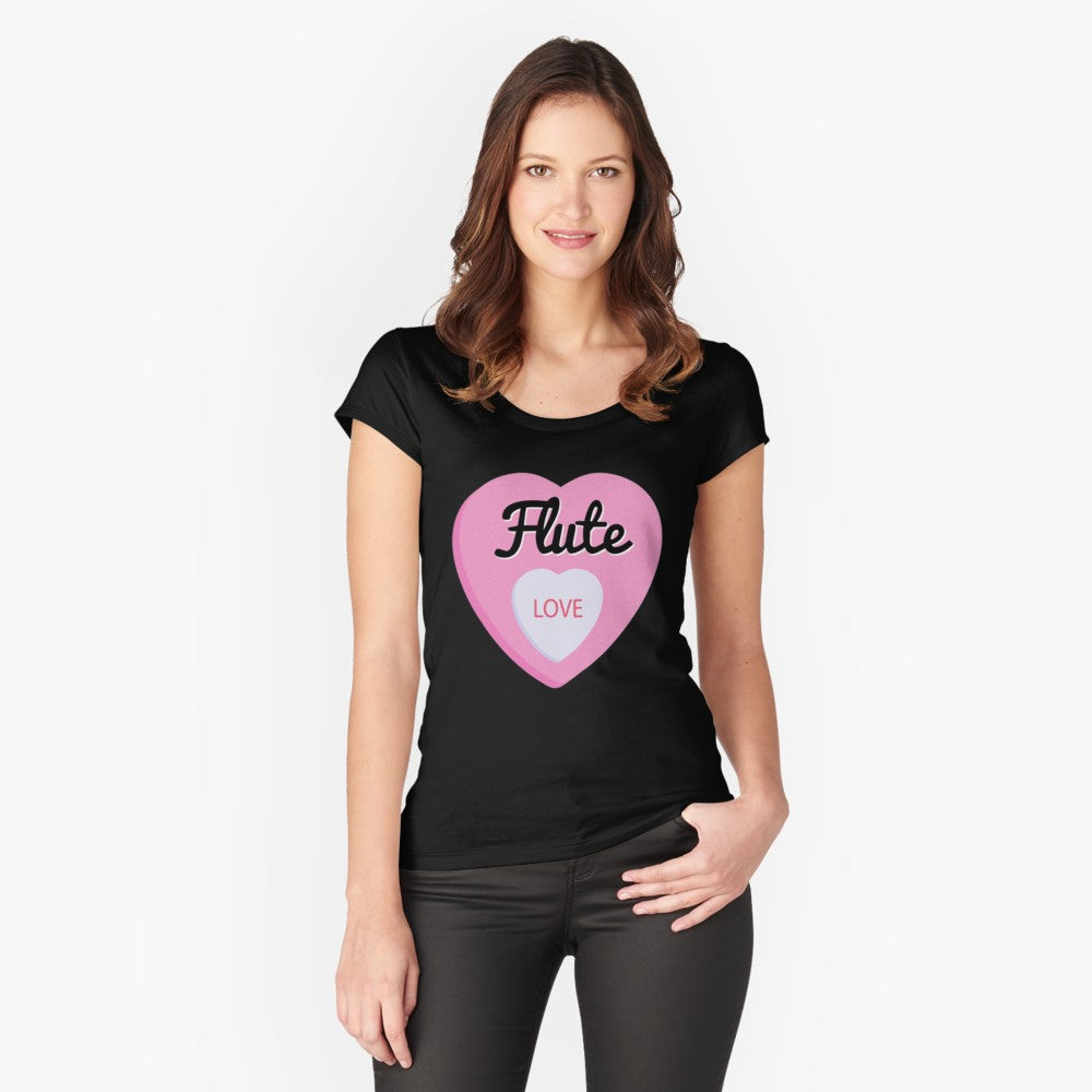 Flute Love Women's Fitted Scoop T-Shirt