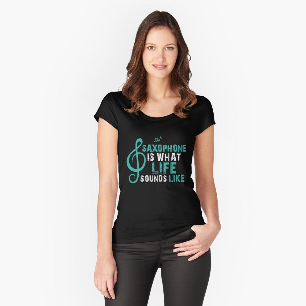 Saxophone Life Women's Fitted Scoop T-Shirt