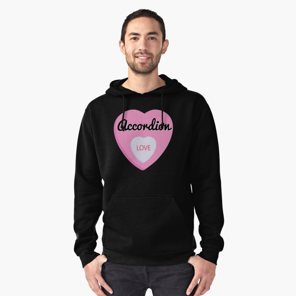 Accordion Love Pullover Hoodie