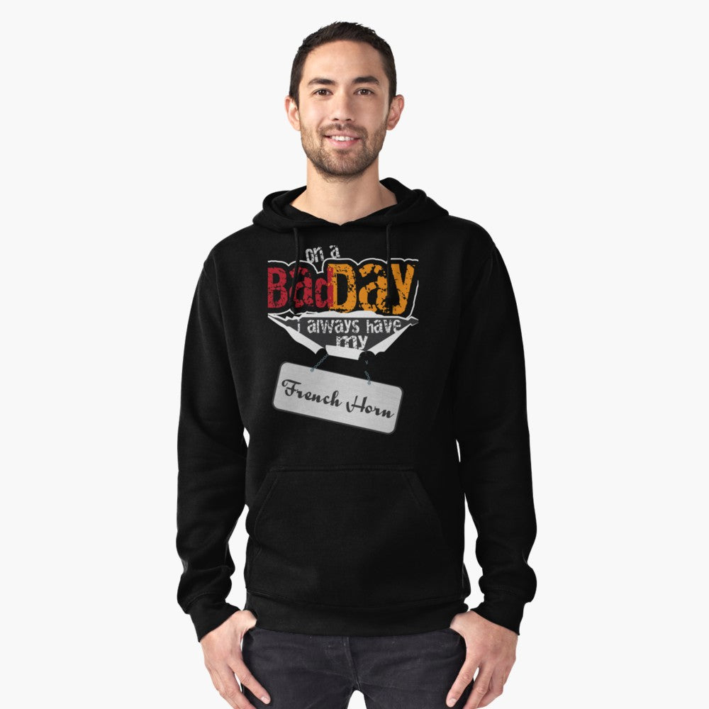 French Horn Bad Day Pullover Hoodie