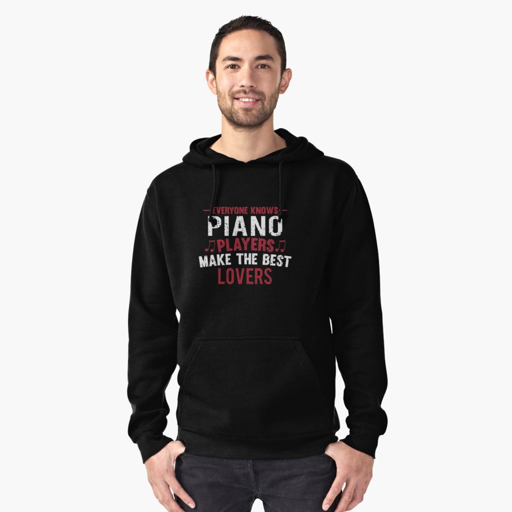 Piano Players Lovers Pullover Hoodie