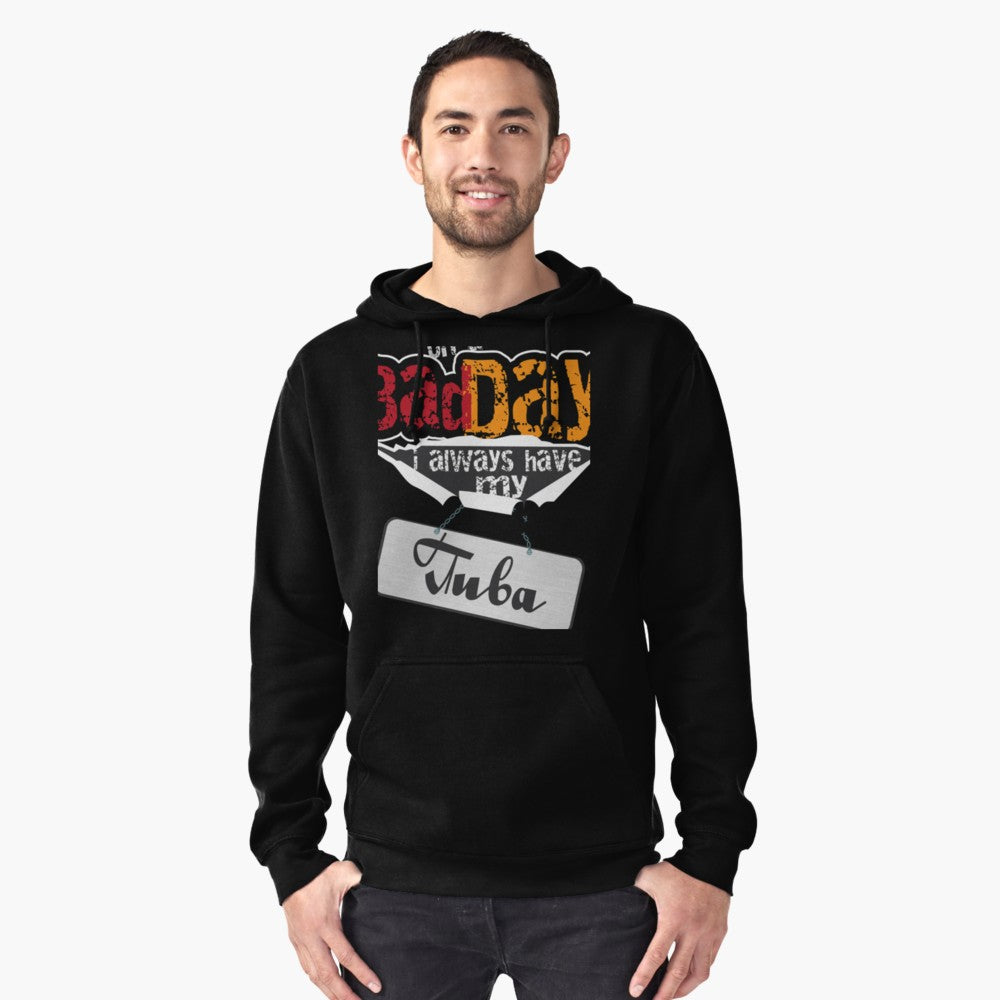 Tuba Bad Day Flag Pullover Hoodie