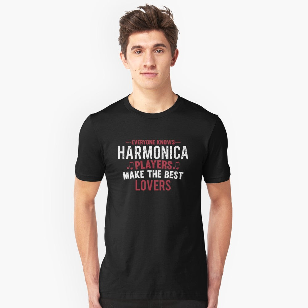 Harmonica Players Lovers Unisex T-Shirt