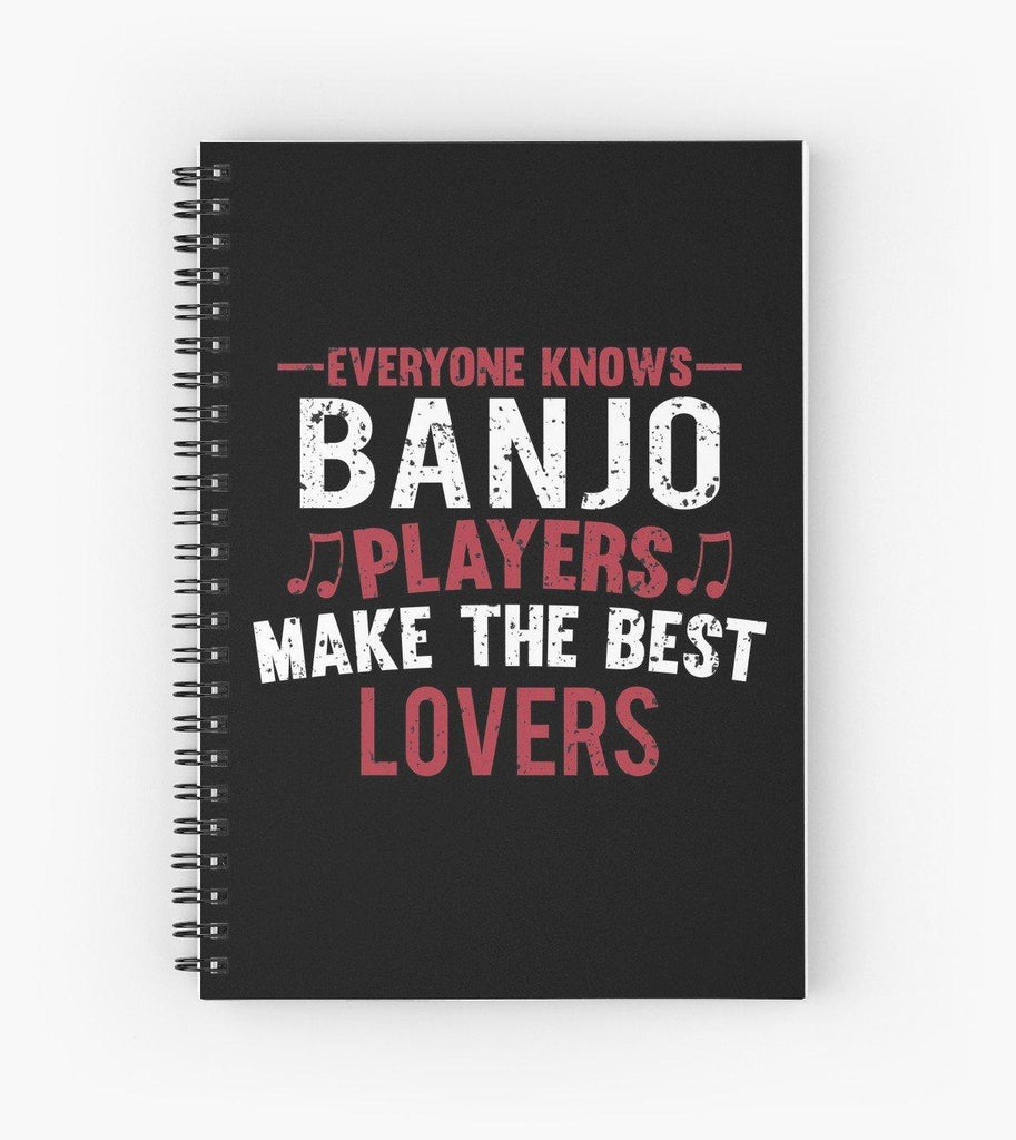 Banjo Players Lovers Spiral Notebook
