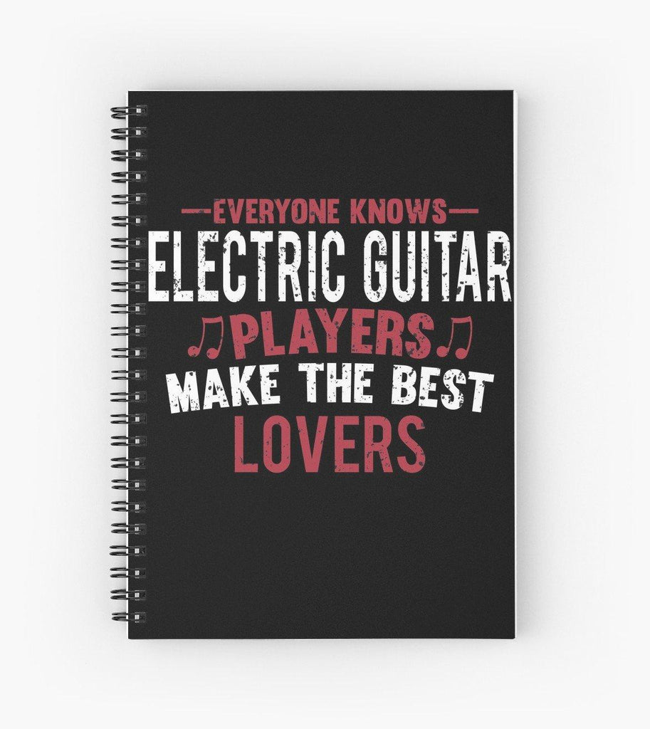 Electric Guitar Players Lovers Spiral Notebook
