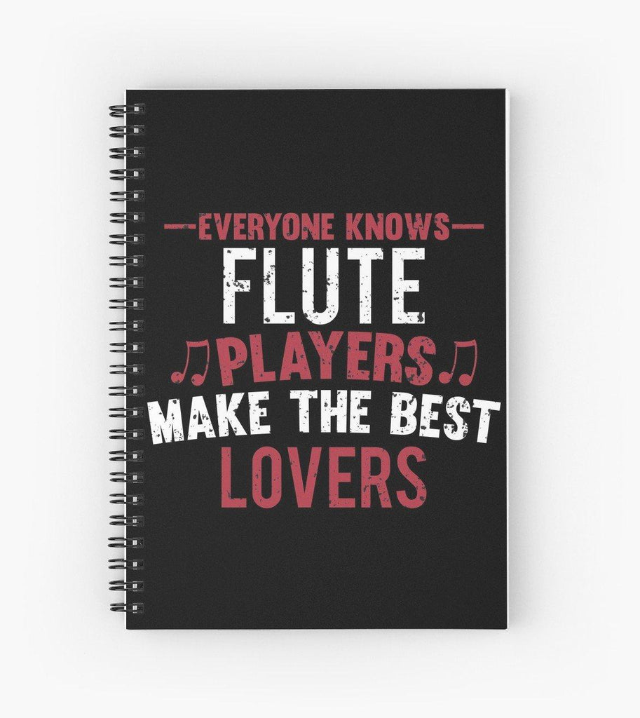 Flute Players Lovers Spiral Notebook
