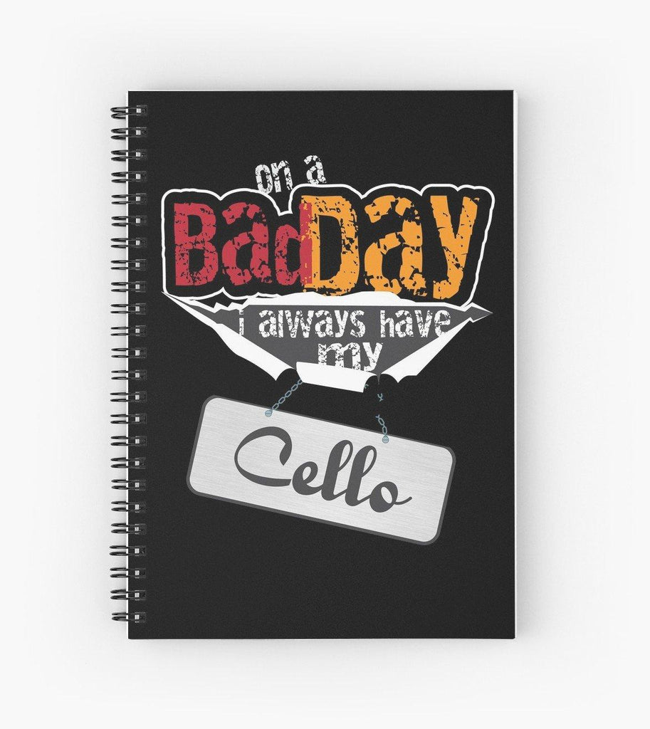 Cello Bad Day Spiral Notebook