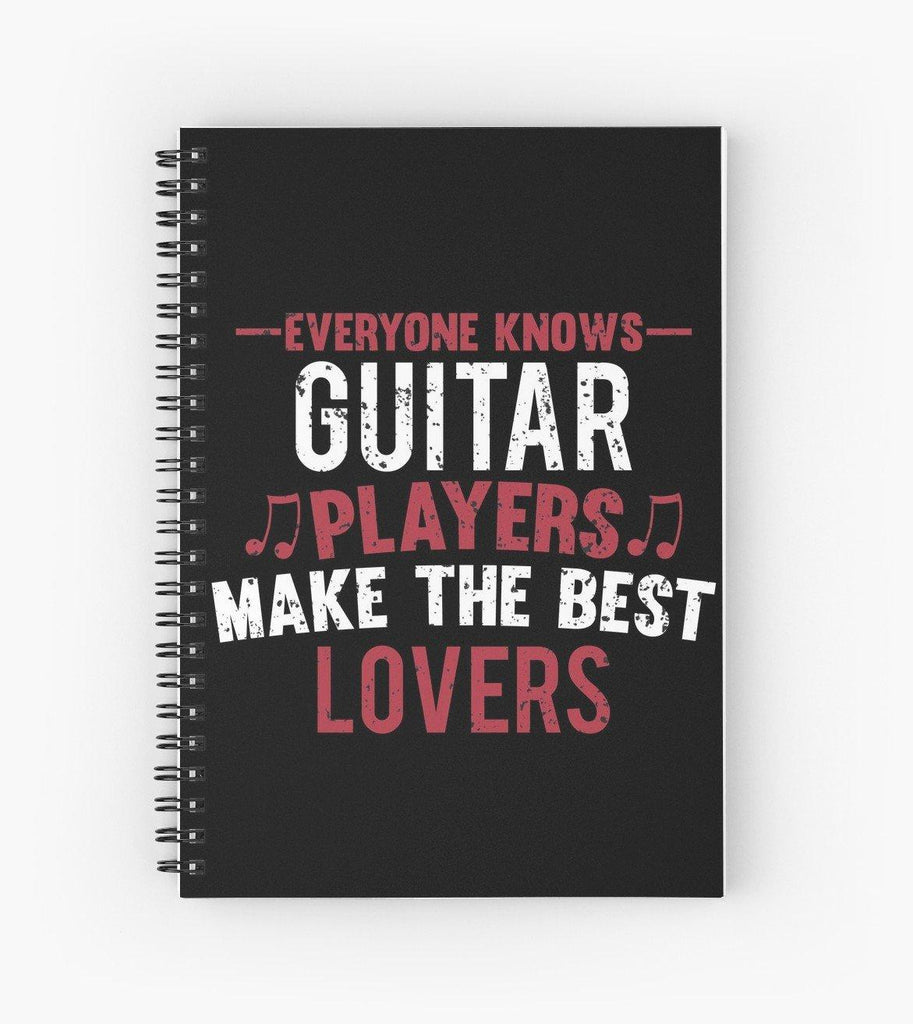 Guitar Players Lovers Spiral Notebook