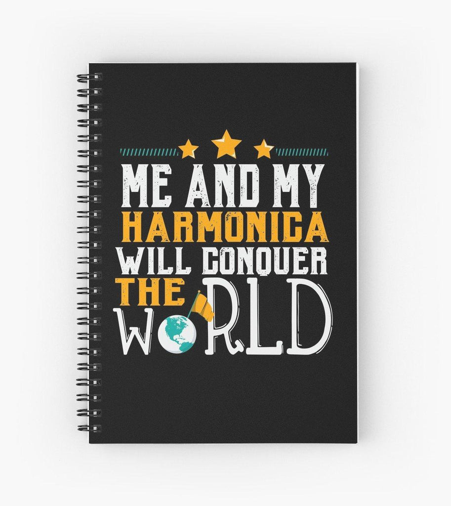 Harmonica World Spiral Notebook