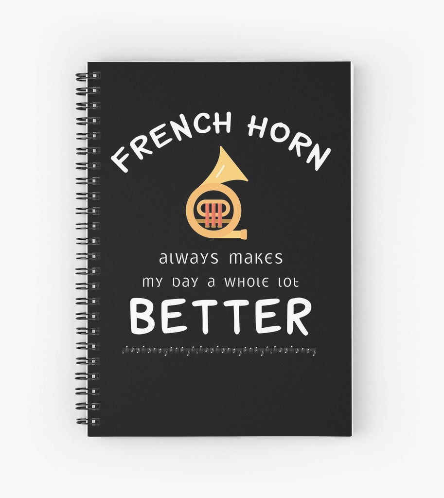 French Horn Better Spiral Notebook