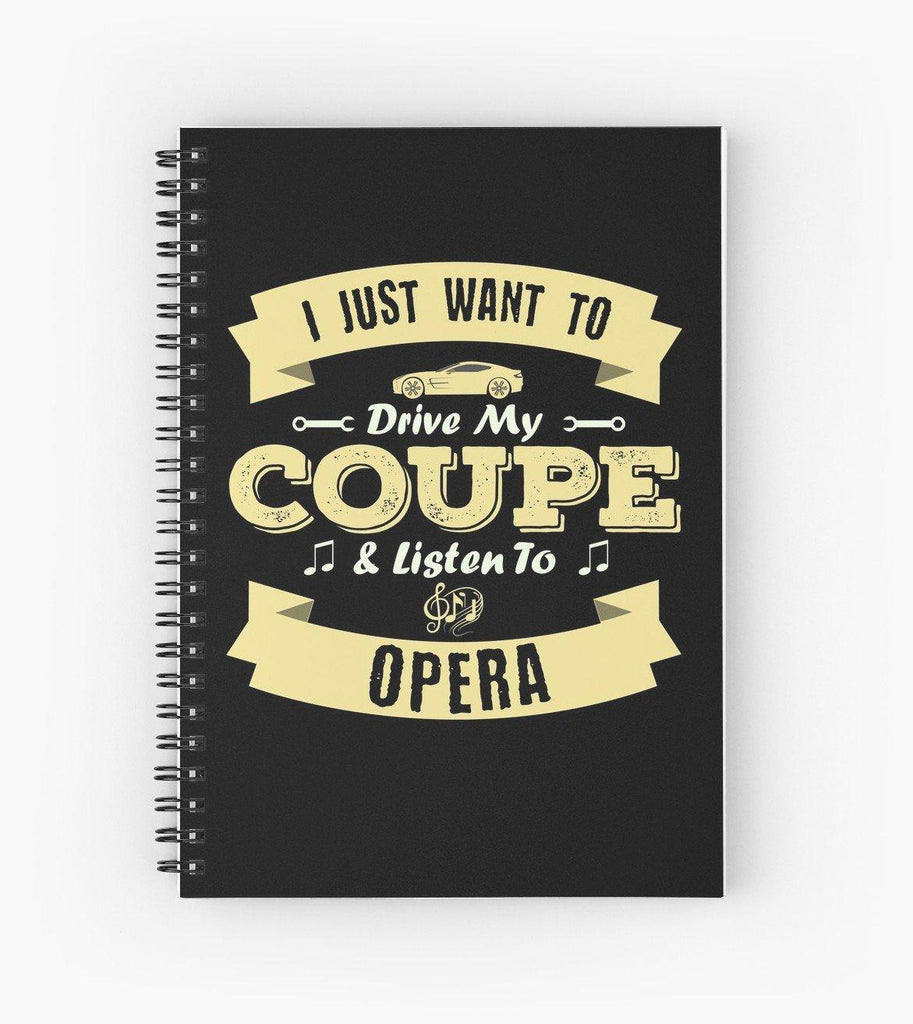 Coupe Opera Spiral Notebook