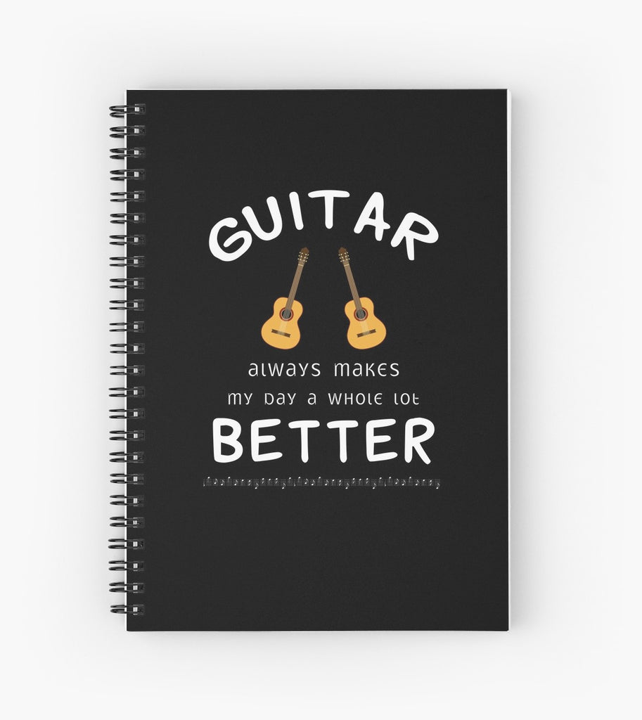 Guitar Better Spiral Notebook