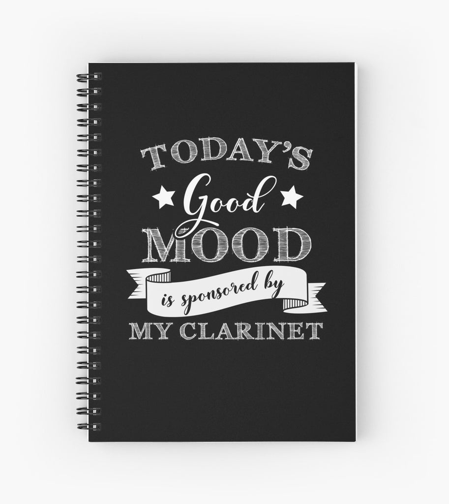 Clarinet Mood Spiral Notebook