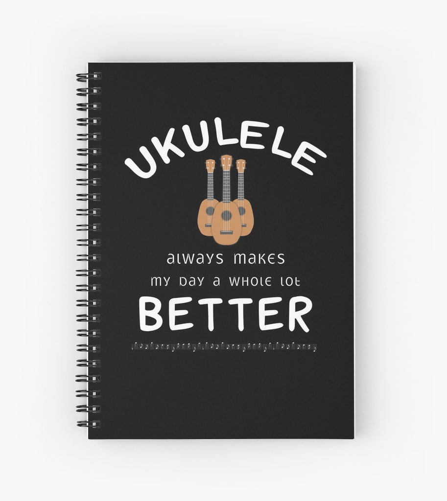 Ukulele Better Spiral Notebook