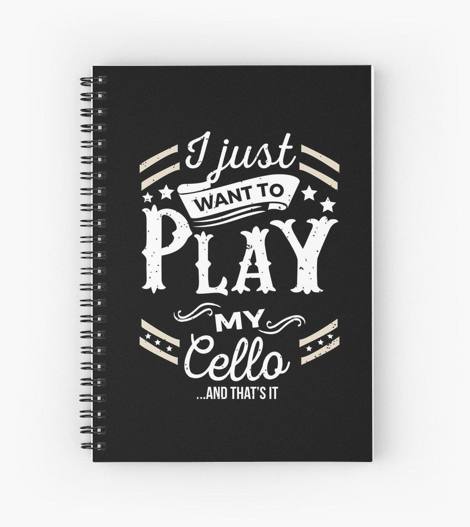 Cello Play Spiral Notebook