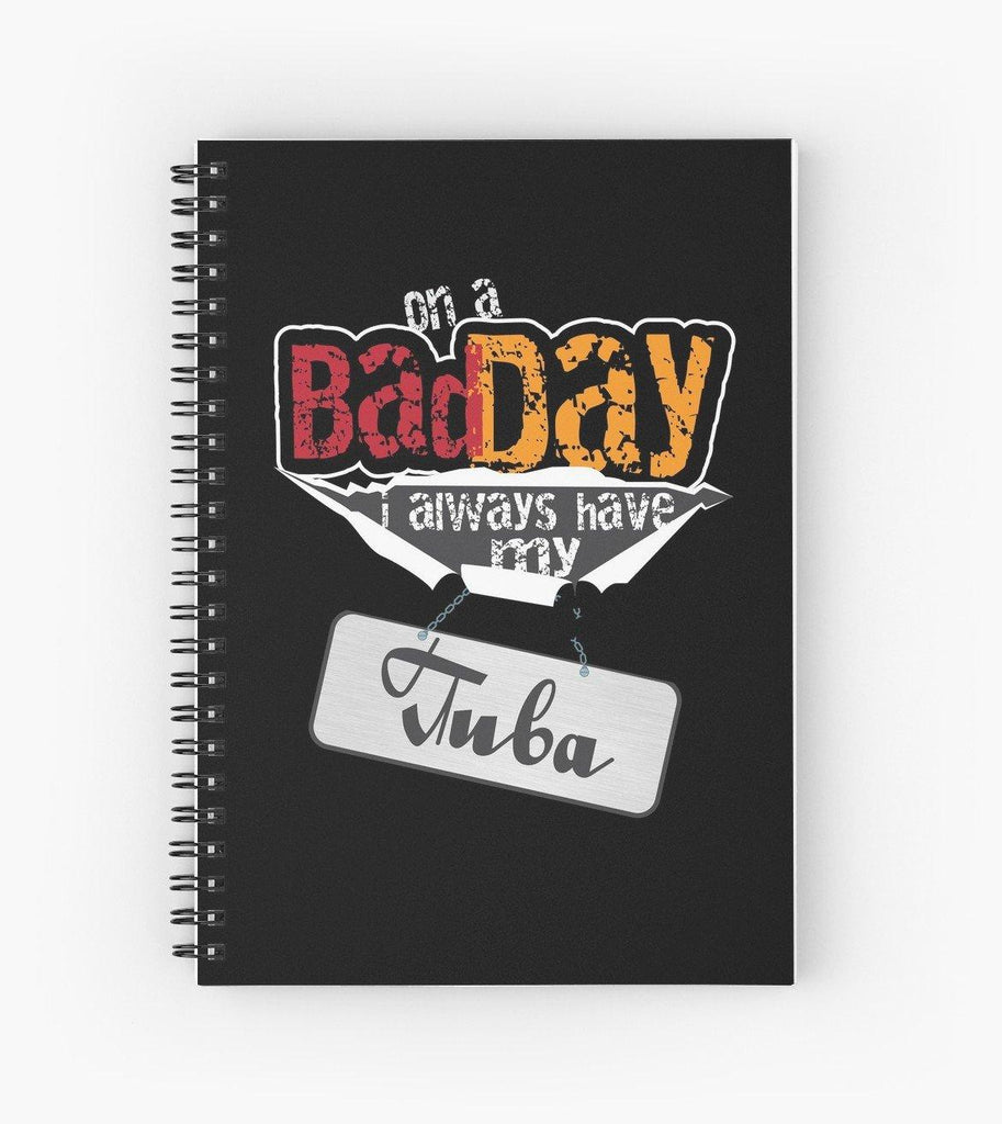 Tuba Bad Day Flag Spiral Notebook
