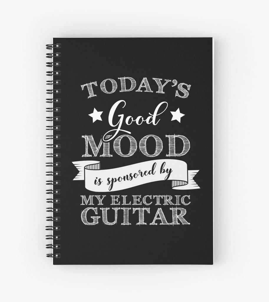 Electric Guitar Mood Spiral Notebook