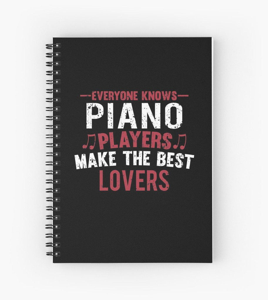 Piano Players Lovers Spiral Notebook