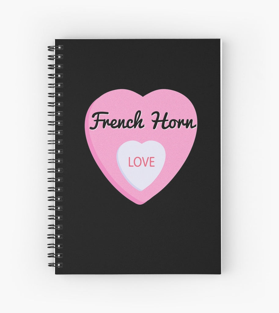 French Horn Love Spiral Notebook