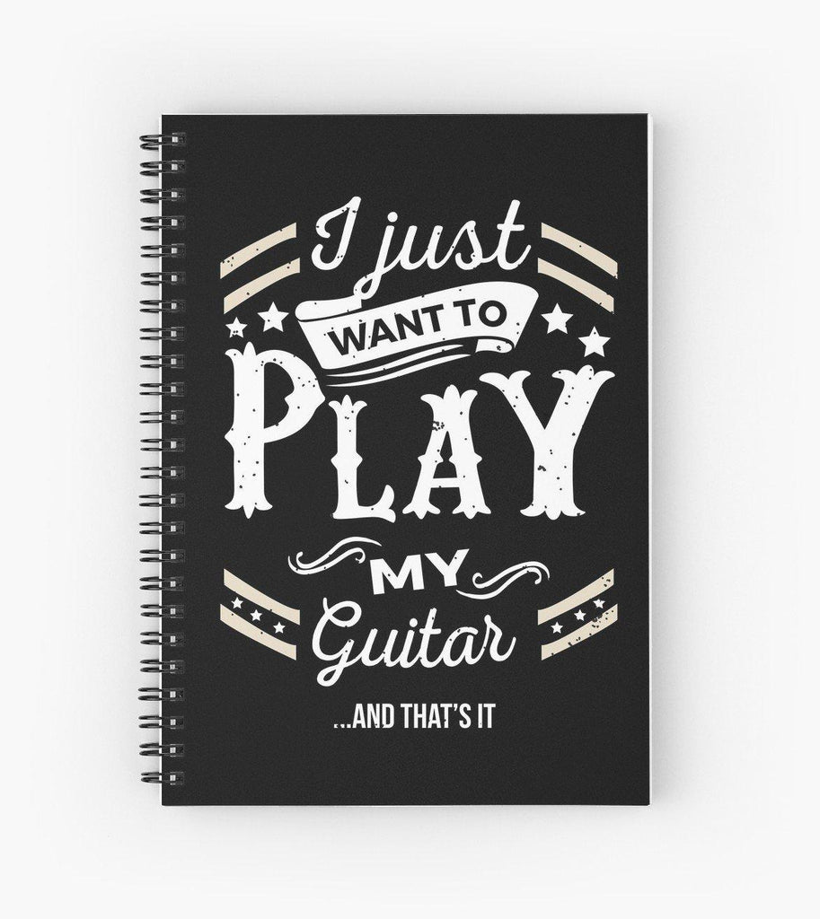 Guitar Play Spiral Notebook