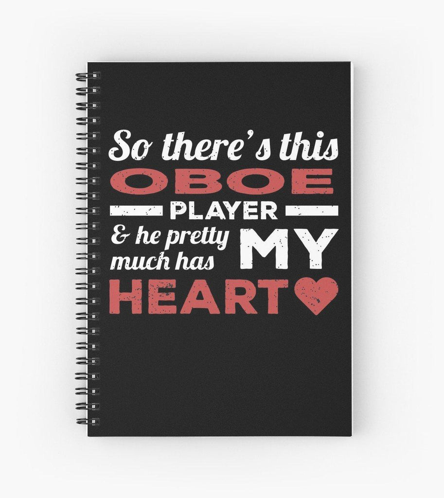Oboe Player Heart Spiral Notebook