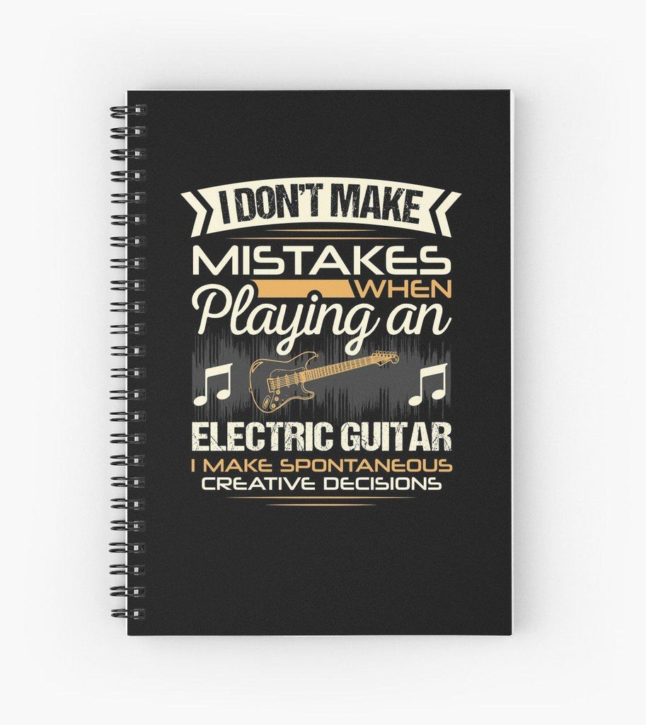 Electric Guitar Mistakes Spiral Notebook