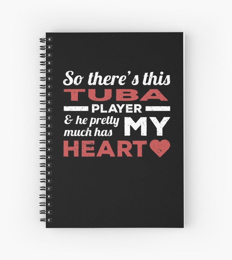 Tuba Player Heart Spiral Notebook
