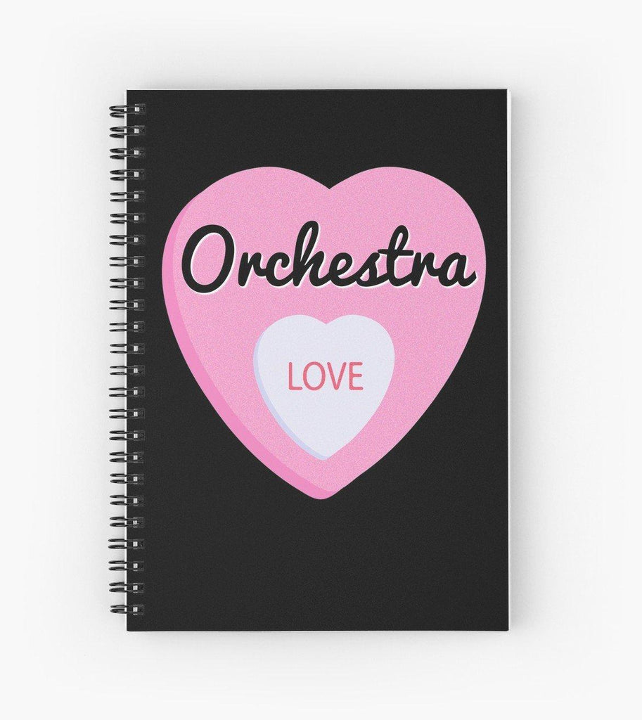 Orchestra Love Spiral Notebook