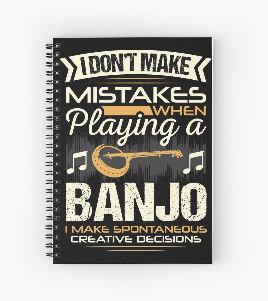 Banjo Mistakes Spiral Notebook