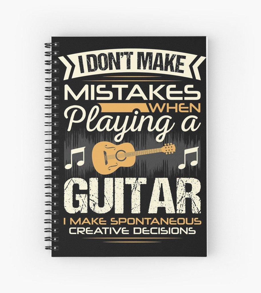 Guitar Mistakes Spiral Notebook