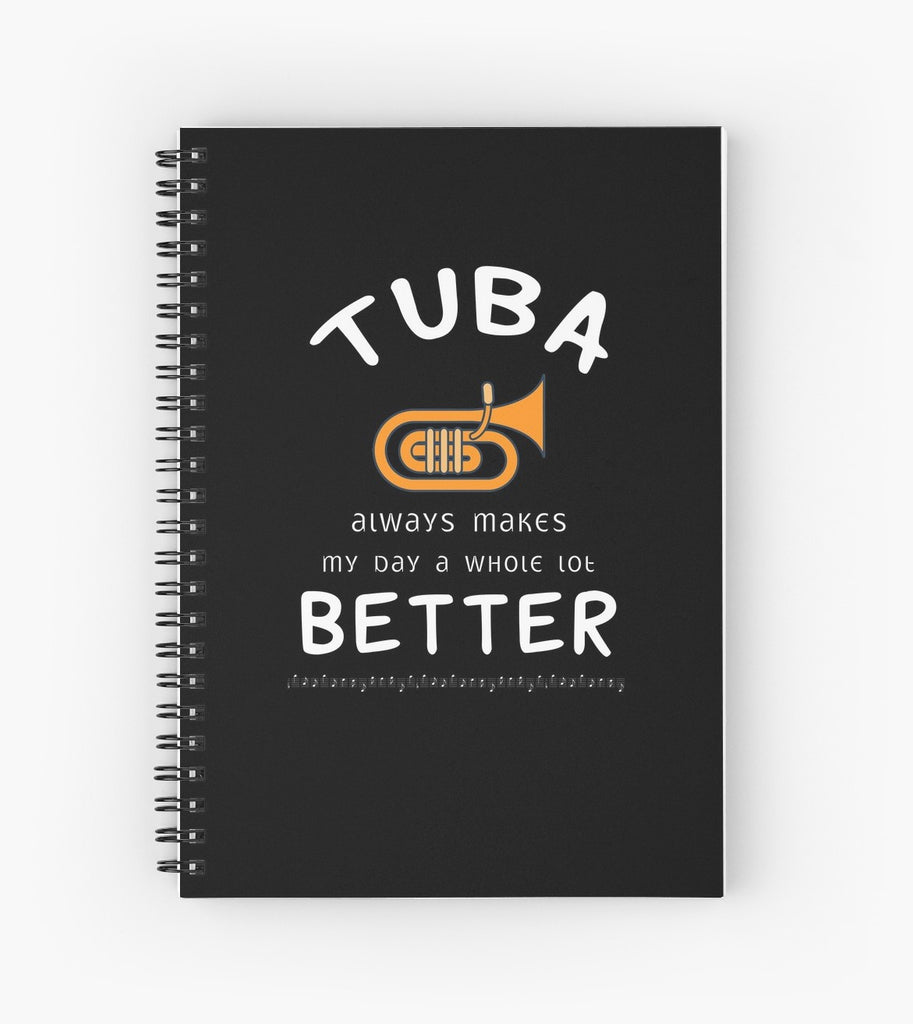 Tuba Better Spiral Notebook