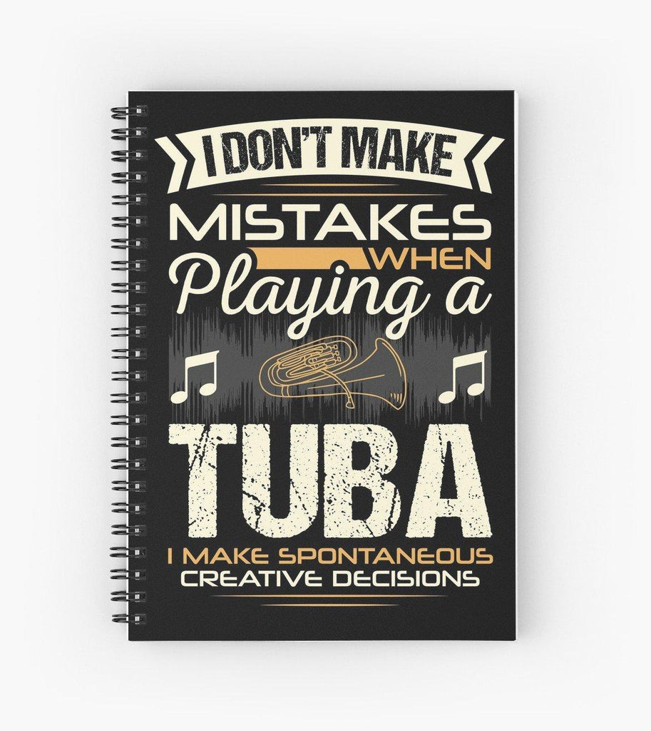 Tuba Mistakes Spiral Notebook